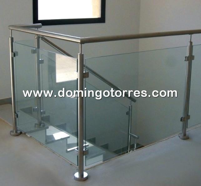 Nº8447 Accesorios de acero inoxidable para barandillas de cristal