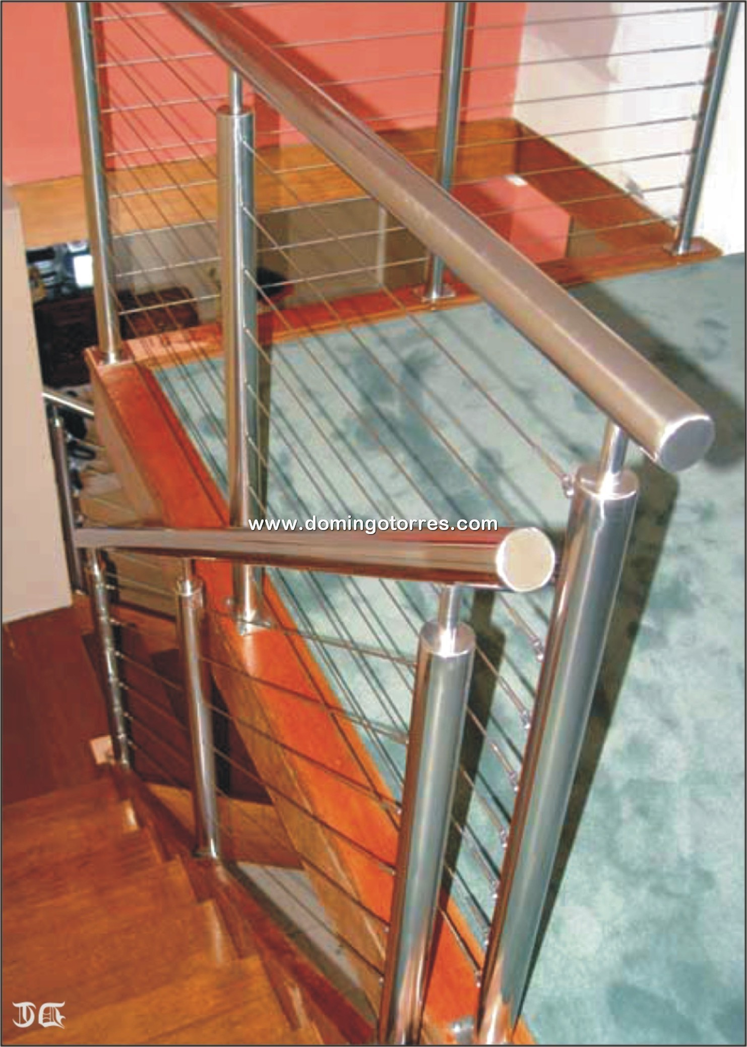 Nº8705 Barandillas de acero inoxidable con cables