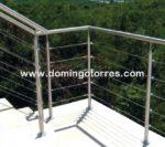Nº8706 Barandilla exterior de acero inoxidable con cables