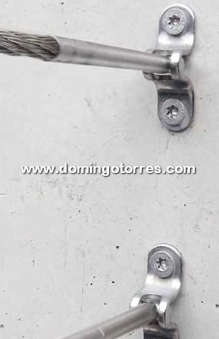 Nº8707 Tensores regulables de acero inox para barandas, escaleras y balcones