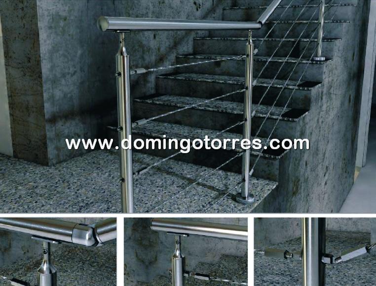 Nº8708 Barandillas de acero inoxidable para interior y exterior con cables