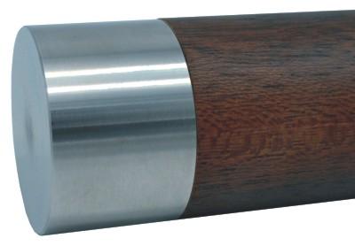 983-INOX Tapón de acero inox para pasamanos de madera redondo